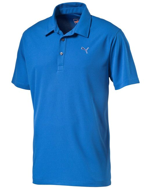 PUMA | Blue Essential Polo for Men | Lyst