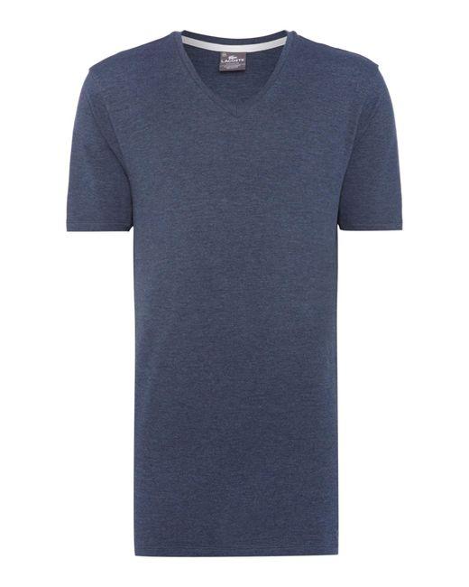 Lacoste | Blue Nightwear V-neck T-shirt for Men | Lyst