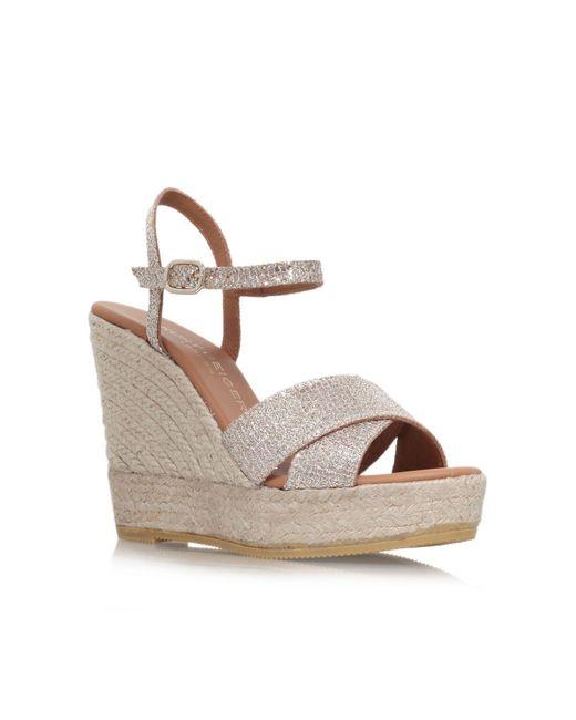 Kurt Geiger | Pink Amerie High Wedge Heel Sandals | Lyst