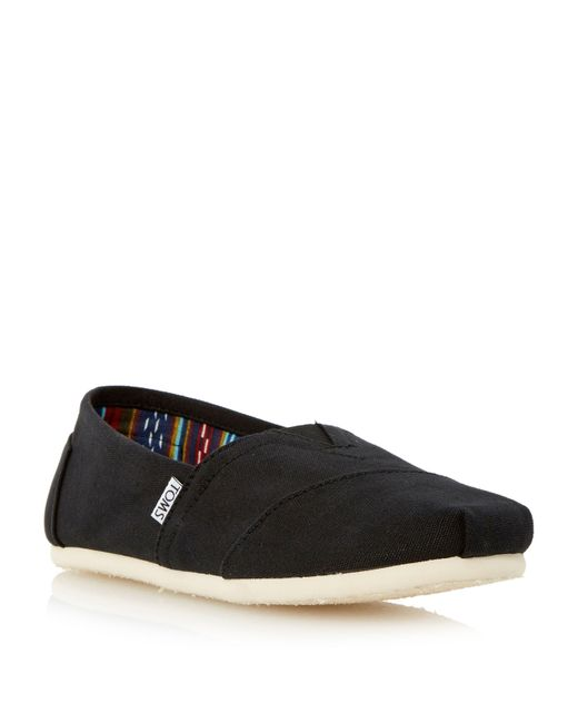 TOMS | Black Classic Slip On Espadrilles for Men | Lyst
