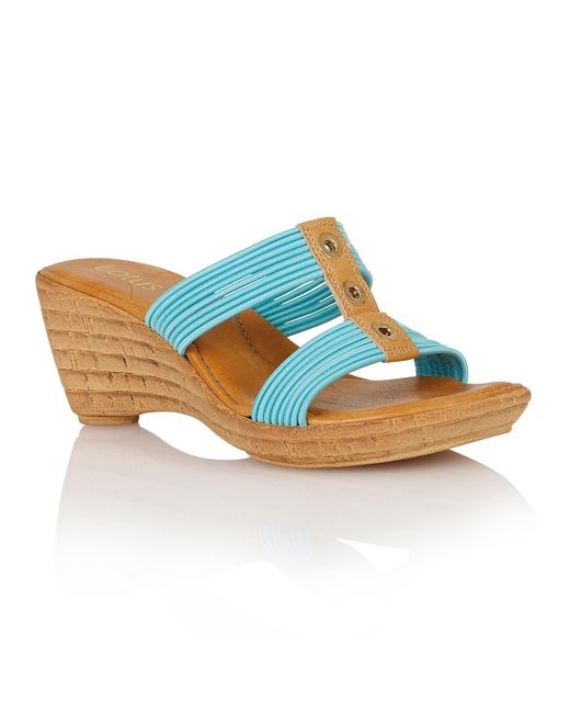 Lotus | Blue Verona Wedge Sandals | Lyst
