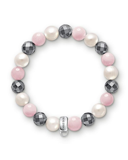 Thomas Sabo | Multicolor Charm Club Hematite Stone Bracelet | Lyst