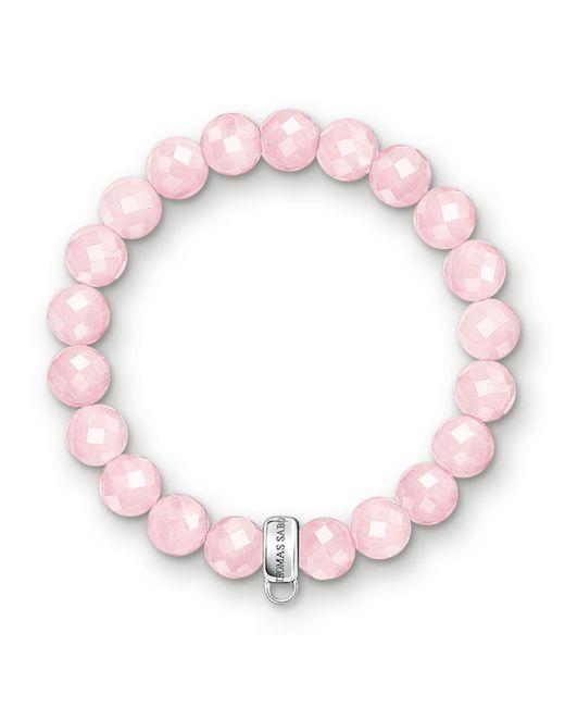 Thomas Sabo | Pink Charm Club Rose Quartz Stone Bracelet | Lyst