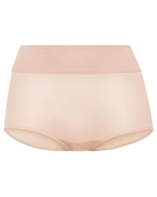 Wolford | Pink Sheer Touch Control Panty | Lyst