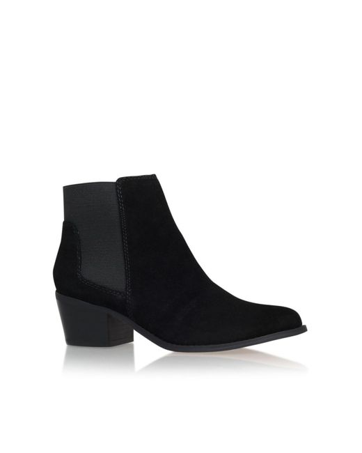 Miss Kg | Black Spider Low Block Heel Ankle Boots | Lyst