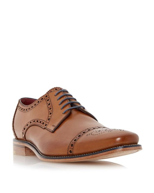 Loake | Brown Foley Brogue Toecap Leather Gibson Shoes for Men | Lyst