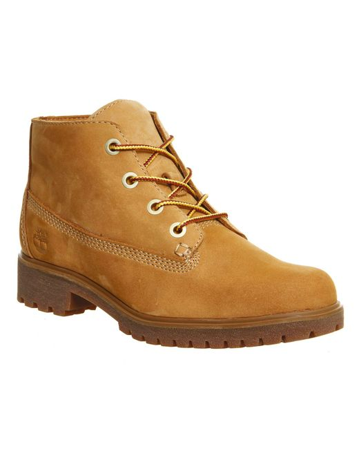 timberland slim nellie chukka boots in brown for lyst