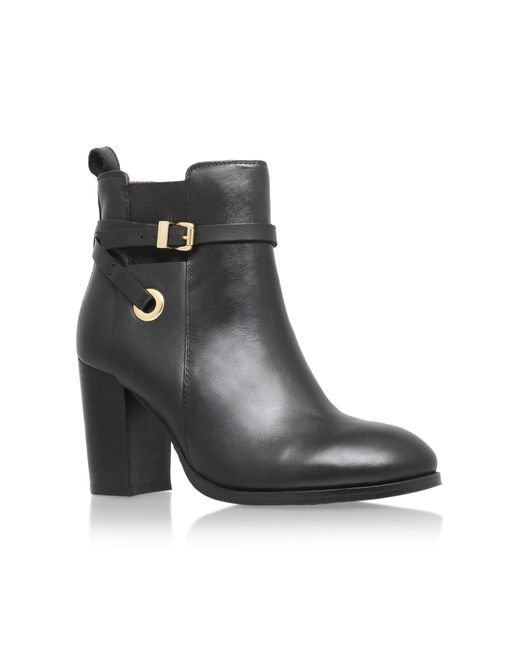 Carvela Kurt Geiger   Black Stacey Leather Ankle Boots   Lyst