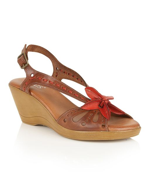 Lotus | Brown Trevi Wedge Sandals | Lyst