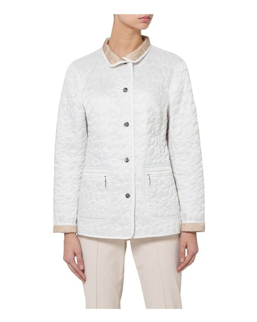 Basler Quilted Jacket in White | Lyst