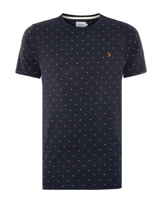 Farah | Blue Hurst Regular Fit Arrow Embroidery T Shirt for Men | Lyst