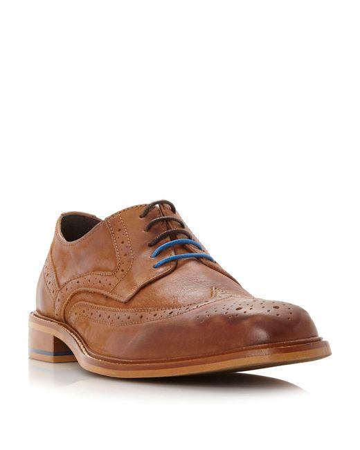 Bertie | Brown Baxter Wingtip Brogue Shoes for Men | Lyst