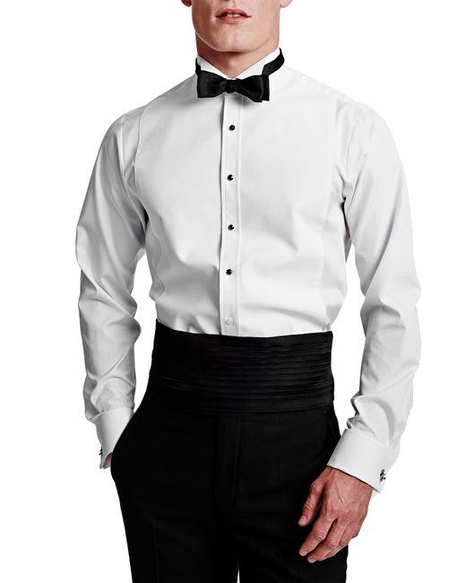 Thomas pink marcella wing collar super slim fit dress for Super slim dress shirts