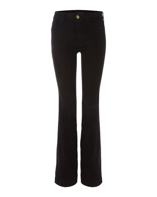 7 For All Mankind | Charlize Tailorless Slim Flare Jean In Black | Lyst