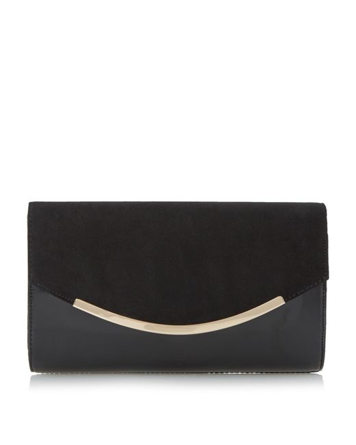 Dune | Black Belise Foldover Clutch Bag | Lyst