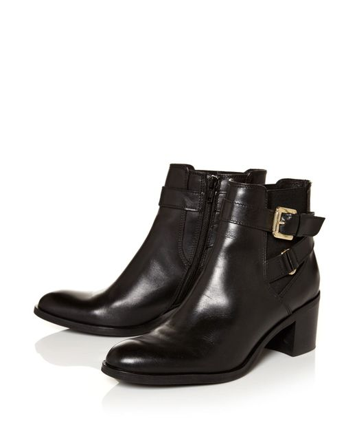 Moda In Pelle | Black Aronas Medium Smart Short Boots | Lyst