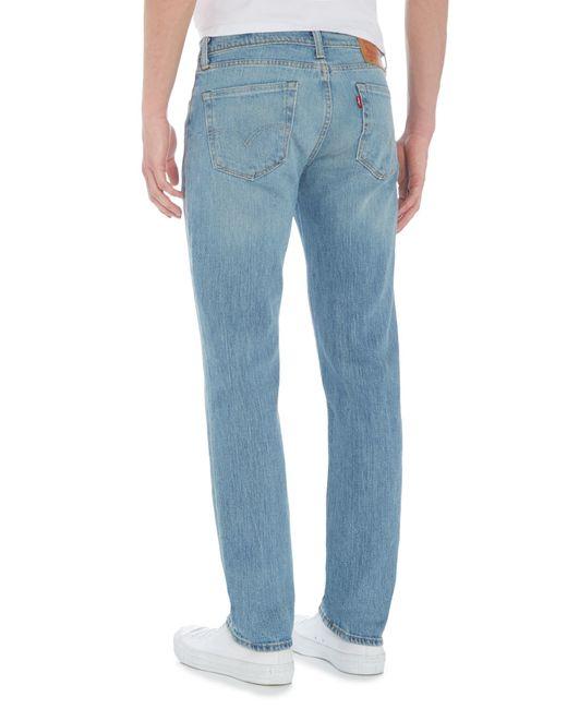 levi 39 s 511 java river slim fit light wash jeans in blue. Black Bedroom Furniture Sets. Home Design Ideas