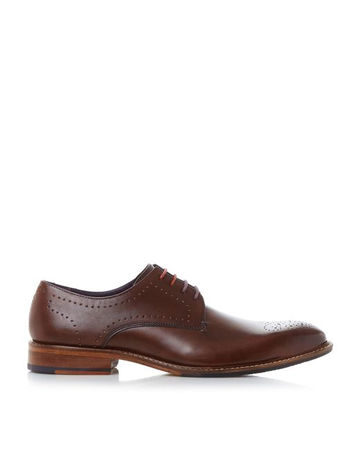 ted baker marar punched derby formal shoes in multicolor