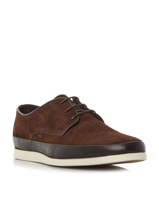 Bertie | Brown Breezy Contrast Tand Lace Up Shoes for Men | Lyst