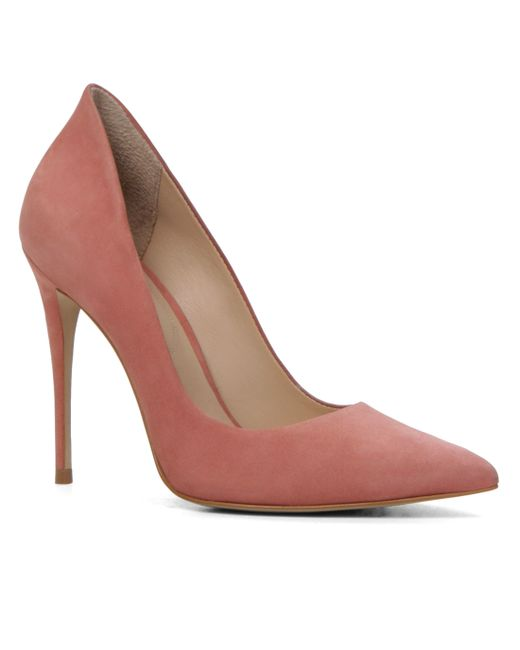 aldo cassedy slip on high heel shoes in pink lyst
