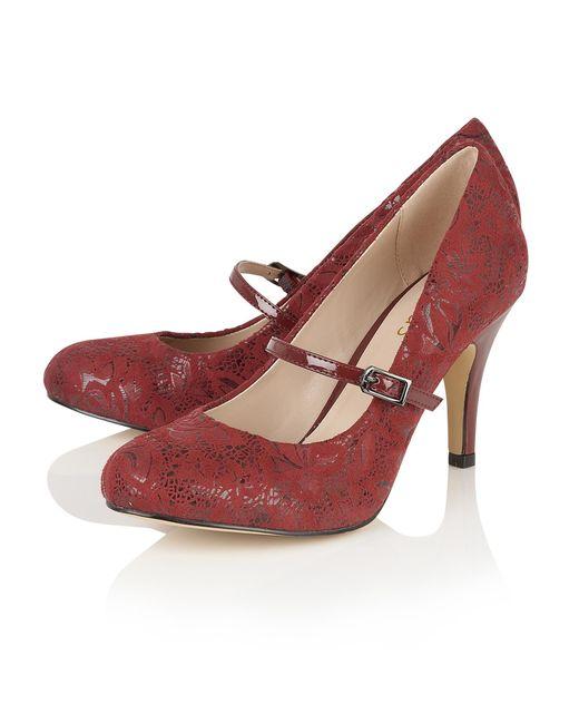 Lotus Burgundy Shoes Sale