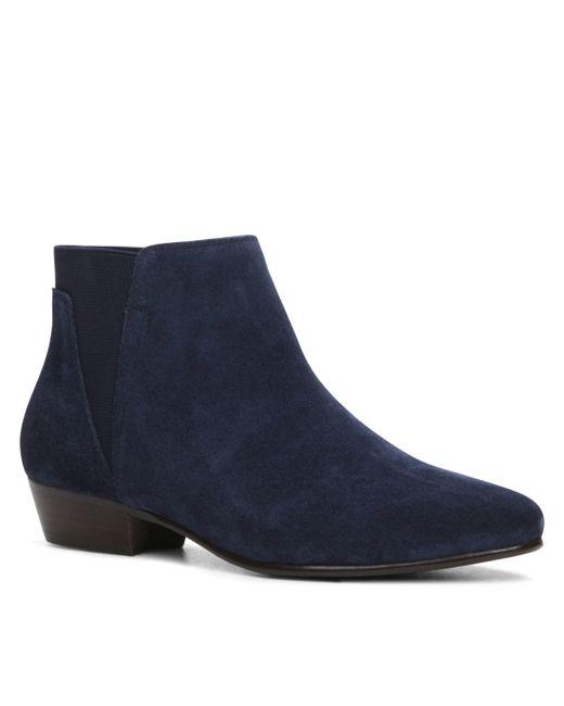 aldo siman flat ankle boots in blue lyst
