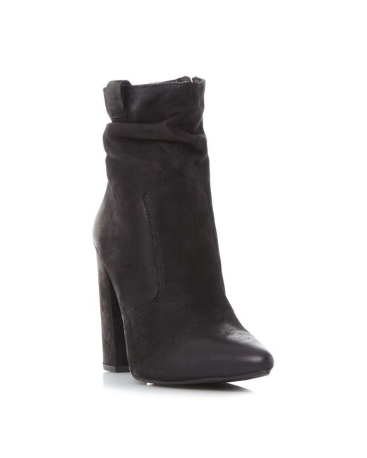Steve Madden | Black Ruling Ruched Point Boots | Lyst