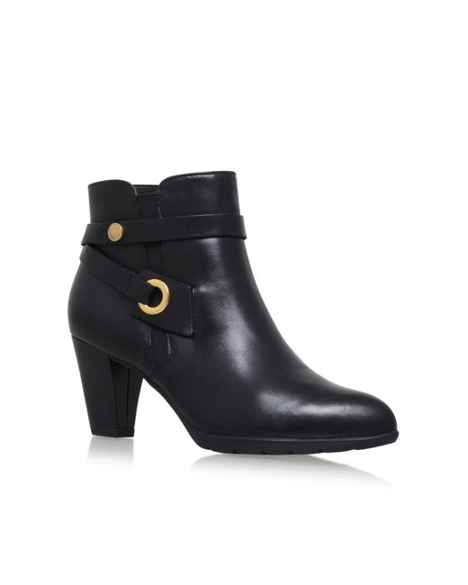 Anne Klein | Black Chelsey High Heel Ankle Boots | Lyst