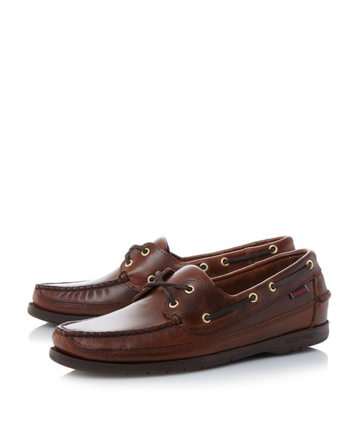 Sebago | Brown Schooner 2 Eye Classic Boat Shoes for Men | Lyst