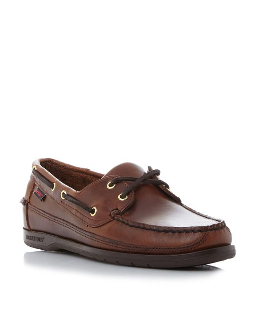 Sebago | Brown 'schooner' Boat Shoe for Men | Lyst