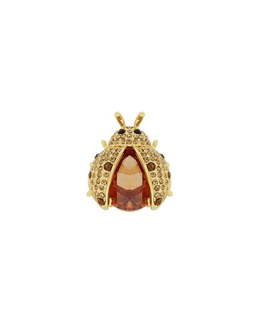 Aurora Flash | Metallic Gold Plated Ladybug Crystal Ring | Lyst