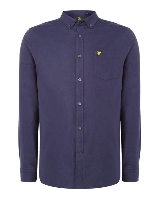 Lyle & Scott | Blue Long Sleeve Oxford Shirt for Men | Lyst