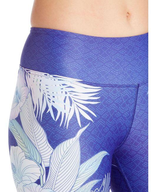 Dharma Bums Hibiscus High Waist 7/8 Leggings In Purple
