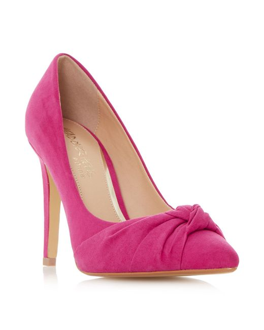 dune arria knot point court shoes in pink lyst