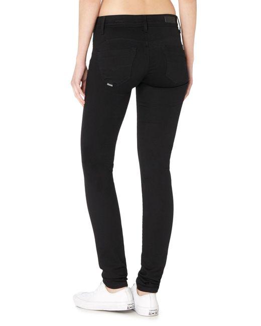 salsa wonder mid rise skinny jeans in black in black lyst. Black Bedroom Furniture Sets. Home Design Ideas