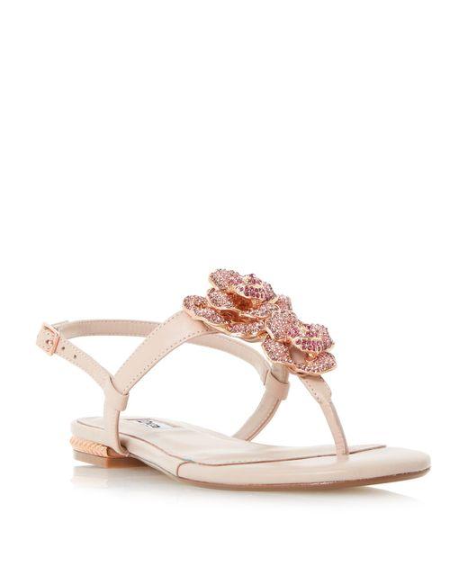 Dune | Multicolor Mulligan Diamante Flower Trim Flat Shoes | Lyst