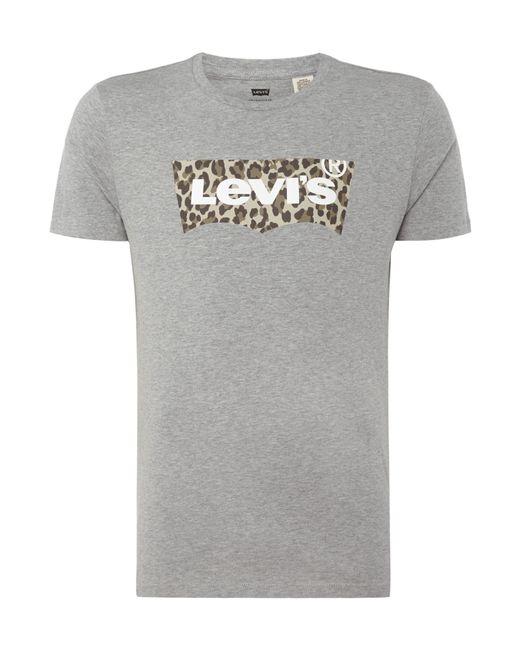 Levi 39 S Pattern Batwing Logo T Shirt In Grey For Men Lyst