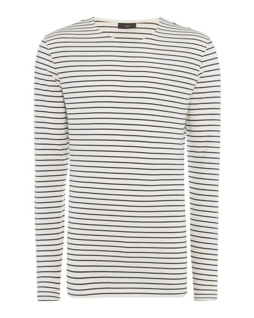 Minimum | White Striped Crew Neck T-shirt for Men | Lyst