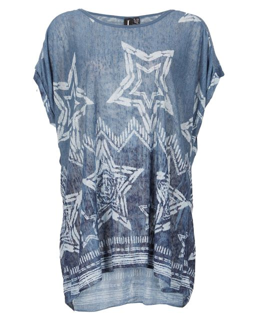 Izabel London | Blue Star Print Smock Top | Lyst