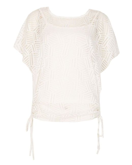 Izabel London | White Drawstring Batwing Top | Lyst