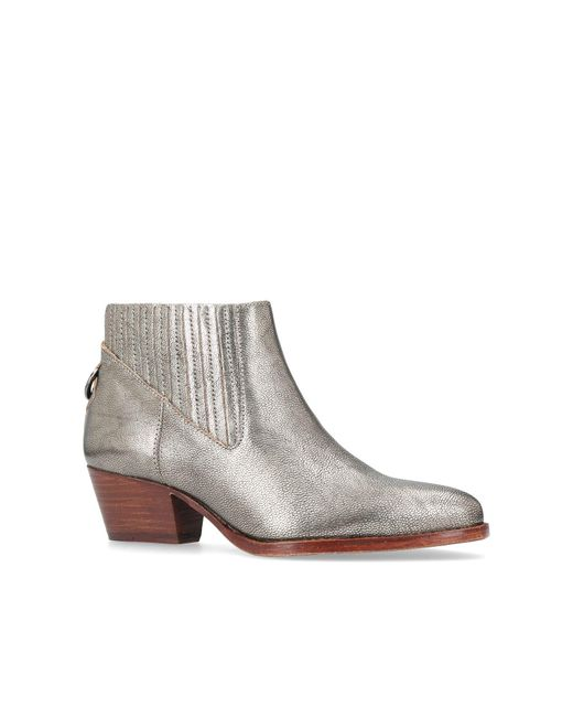 H by Hudson   Metallic Ernest Ankle Boots   Lyst