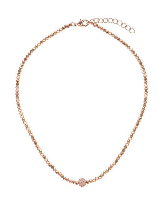 Mikey | Pink Cubic Crystal Ball Elastic Necklace | Lyst