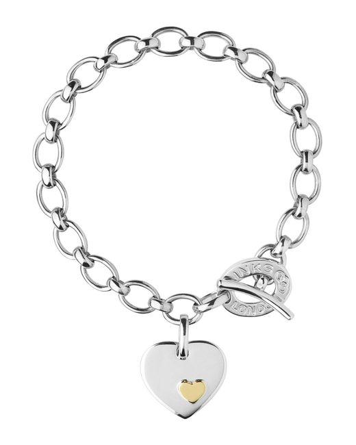 Links of London - Metallic Charm Bracelet Heart Disc - Lyst