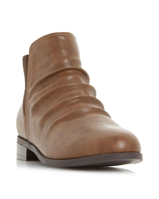 Dune - Brown Piaa Round Chelsea Ankle Boots - Lyst