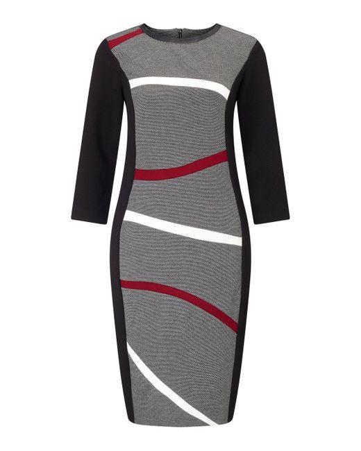 James Lakeland - Black Wavey Stripe Dress - Lyst