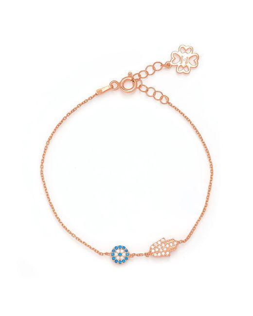 Lucky Eyes | Metallic Rose Mini Hand&eye Bracelet | Lyst