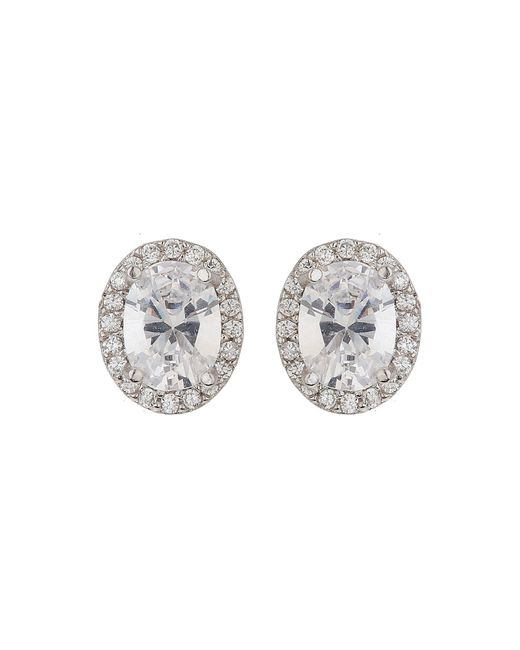 Mikey | Metallic Filigree Oval Cubiccentrestud Earring | Lyst