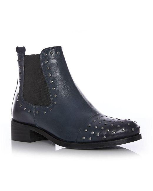Moda In Pelle Blue Nurela Low Smart Short Boots