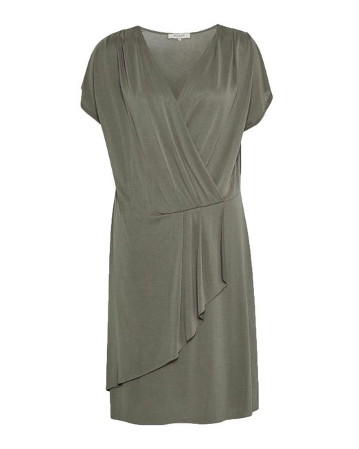 Great Plains | Green So Peachy V Neck Drape Dress | Lyst