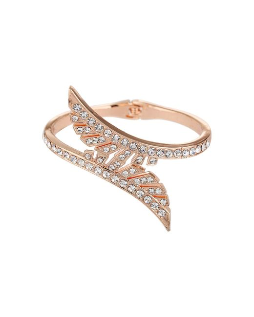 Mikey - Metallic Cut Leaves Cubic Cuff Bracelet - Lyst
